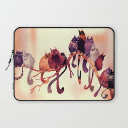 Cat-Birds on a Wire Laptop Sleeve