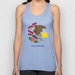 Illinois State Flag, authentic color & scale Unisex Tank Top