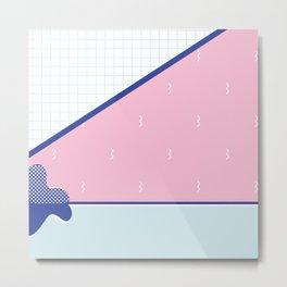 Shapes & Patterns & Pink & Blue Metal Print