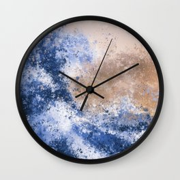 The Great Wave Inspired Abstract Painting Wall Clock