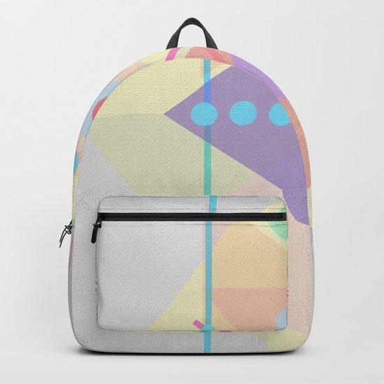 Geometric pastel 01 Backpack