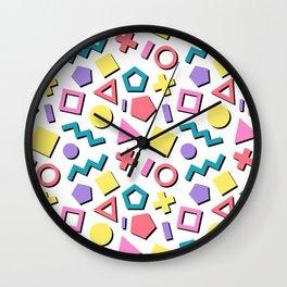 Pastel 90's Pattern Wall Clock