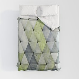 Textured Triangles Lime Gray Comforters