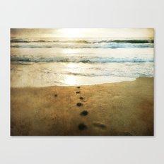Tracks Into the Sea Canvas Print