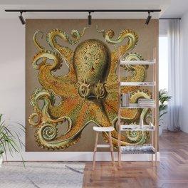 Vintage Golden Octopus Wall Mural