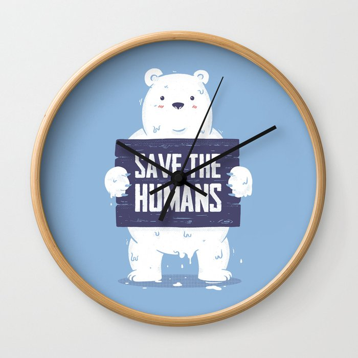 Save The Humans Wall Clock