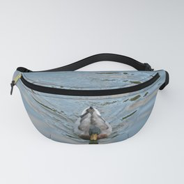 Mallard duck swimming in a turquoise lake 2 Fanny Pack