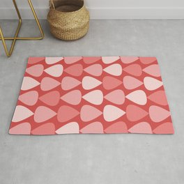 Plectrum Pattern in Pink and Red Rug