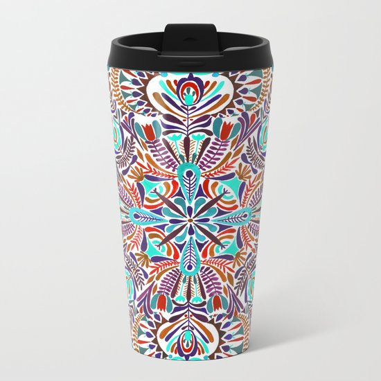 Flower explosion Metal Travel Mug