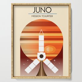 Juno - Mission to Jupiter Space art Serving Tray