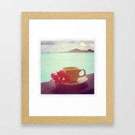 Tropical Coffee Framed Art Print