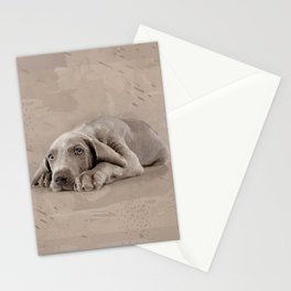 Weimaraner puppy Stationery Cards