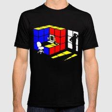 Rubix Cubicle Mens Fitted Tee MEDIUM Black