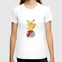 pokeball T-shirts featuring Pokeball Go by Nozubozu
