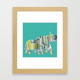 Pair Of Indian Elephants Framed Art Print