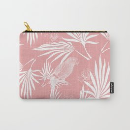 Parrot and Palms - very soft red Carry-All Pouch