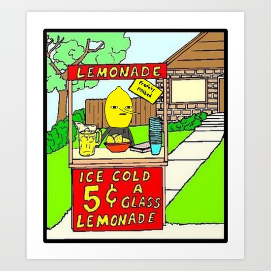 Lemon Sales Art Print