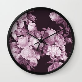 Wine and Roses Wall Clock