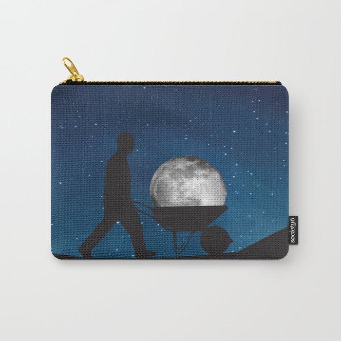Moon In Wheelbarrow Carry-All Pouch
