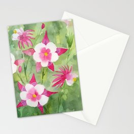 Columbine Watercolor Stationery Cards