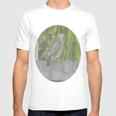 Falcon gazing White MEDIUM Mens Fitted Tee