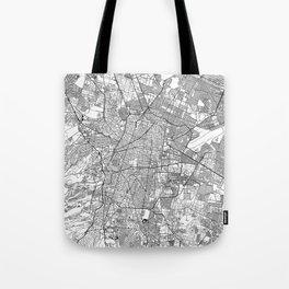 Mexico City White Map Tote Bag