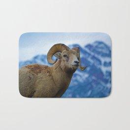 Big Horn Sheep in Jasper National Park   Canada Bath Mat