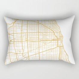 CHICAGO ILLINOIS CITY STREET MAP ART Rectangular Pillow