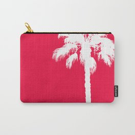 Palm silhouette on red Carry-All Pouch