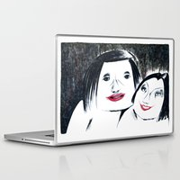 lipstick Laptop & iPad Skins featuring Lipstick by Linda Roy Art