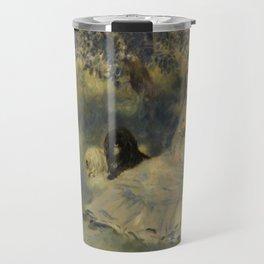 La Famille Henriot by Auguste Renoir Travel Mug