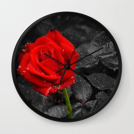 Water rose Wall Clock