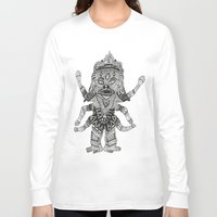 yeti Long Sleeve T-shirts featuring Yeti by Guice Mann