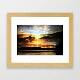 the eternal glory of rising sun Framed Art Print