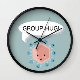 Group Hug! Wall Clock