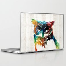 Colorful Owl Art - Wise Guy - By Sharon Cummings Laptop & iPad Skin