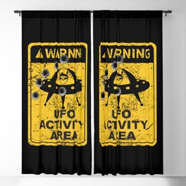 Warning, UFO activity area Blackout Curtain