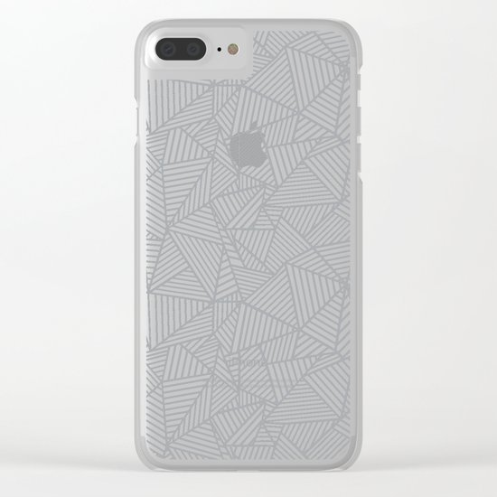 Ab 2 R Black and Grey Clear iPhone Case