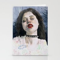 sky ferreira Stationery Cards featuring Sky Ferreira II by Jethro Lacson