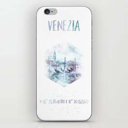 Coordinates VENICE Grand Canal | watercolor iPhone Skin