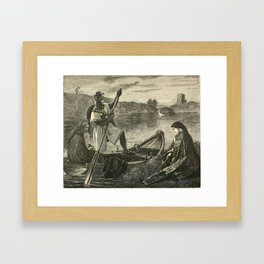 King Arthur 19th Century Illustration Framed Art Print