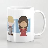 merlin Mugs featuring Merlin, Morgana, Arthur, Guinevere, Chibi Merlin by carolam