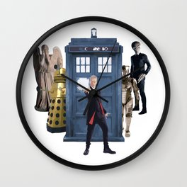 Doctor Who & Enemies Wall Clock