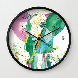 Elephant Matriarch Wall Clock