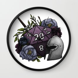 Fighter Class D20 - Tabletop Gaming Dice Wall Clock