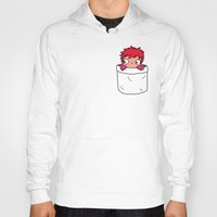 ponyo Hoodies featuring Ponyo in a pocket by Samtronika