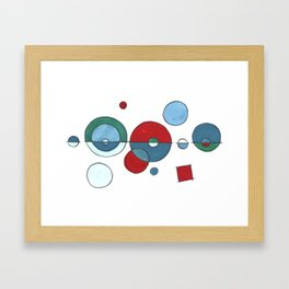 modern blues... and reds Framed Art Print