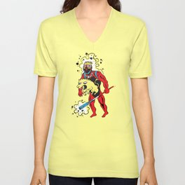 CAPTAIN BRITAIN Unisex V-Neck