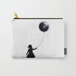 The Girl That Holds The World - White background Carry-All Pouch