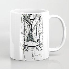 Band Shirt and Leather Jacket Coffee Mug